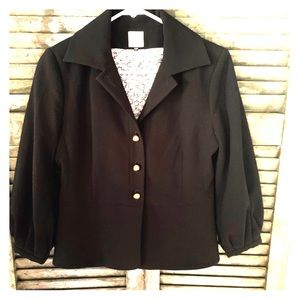 CAbi size 4 Abbott Blazer Black with gold buttons